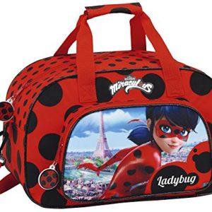 Safta-Lady-Bug-Bolsa-de-Deporte-40-cm-10-Litros-Rojo-Negro-0